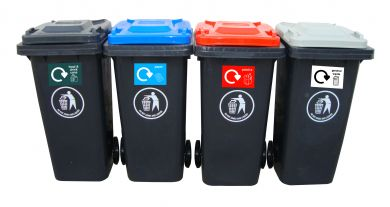 Recycling Centre Wheeled Bins - 120L